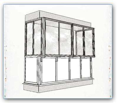 В чем нарисовать балкон.