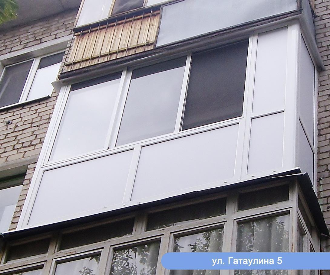 Остекление балконов - фотогалерея - новые окна.