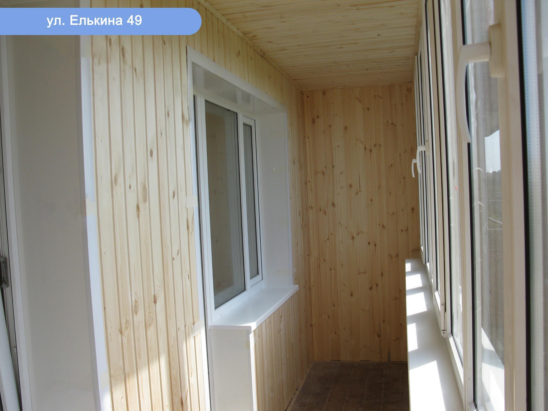 Обшивка балконов и лоджий - фотогалерея - новые окна.